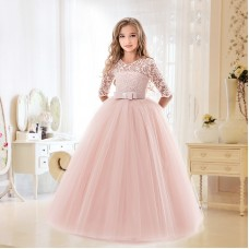 New flower girl wedding princess dress girl prom dress lace tutu